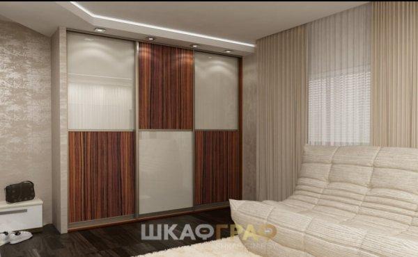 Шкаф-купе в гостиную с лакобелем Graf № 43 2