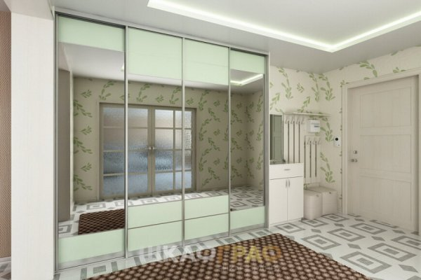 Шкаф-купе в прихожую с зеркальными дверями Graf № 50 1