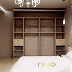 Комбинированный шкаф-купе в спальню с пескоструем Graf № 51 5