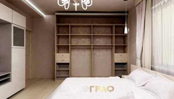 Комбинированный шкаф-купе в спальню с пескоструем Graf № 51 3