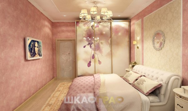 """Шкаф-купе в спальню с фотопечатью """"Весна"""" Graf № 87 1"""