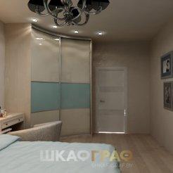 Угловой шкаф-купе в спальню с лакобелем Graf № 52 5