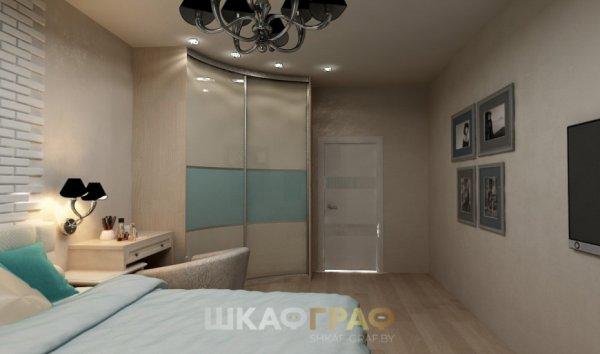 Угловой шкаф-купе в спальню с лакобелем Graf № 52 3