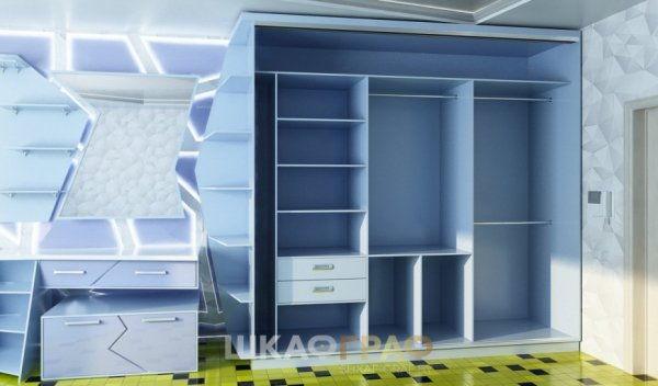 Шкаф-купе в спальню с боковой стенкой Graf № 45 2