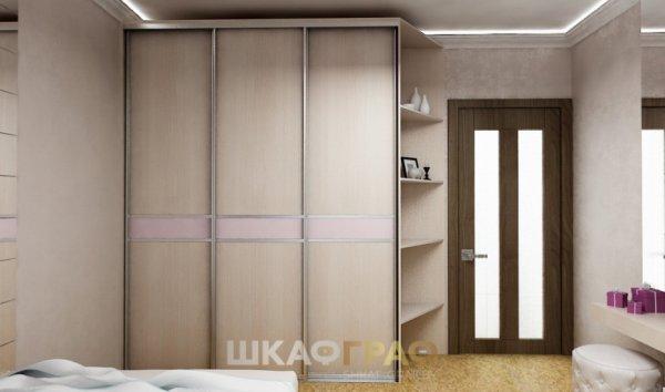 Шкаф-купе в спальню с боковой стенкой Graf № 59 1