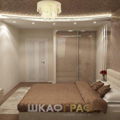 Шкаф-купе с лакобелем в спальню Graf № 60 5
