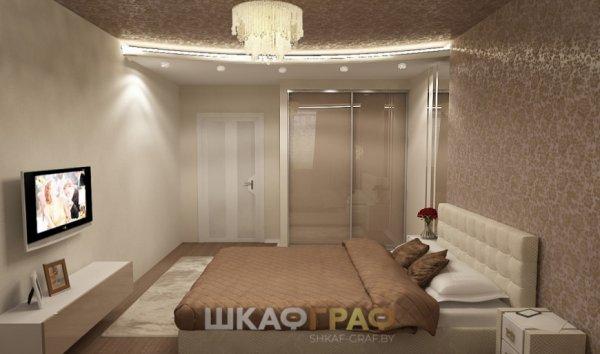 Шкаф-купе с лакобелем в спальню Graf № 60 3