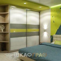 Шкаф-купе в спальню с лакобелем Graf № 105 5