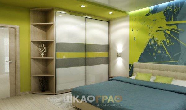 Шкаф-купе в спальню с лакобелем Graf № 105 3
