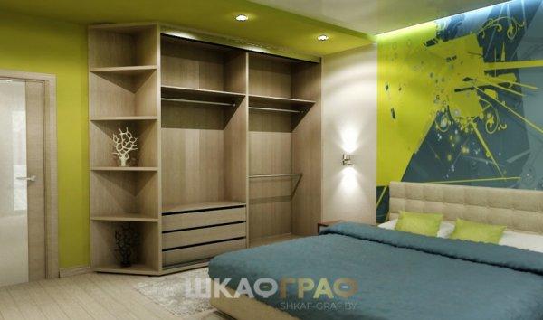 Шкаф-купе в спальню с лакобелем Graf № 105 2