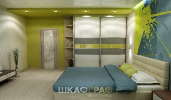 Шкаф-купе в спальню с лакобелем Graf № 105 1