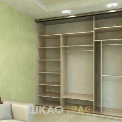 Комбинированный шкаф-купе в гостиную с зеркалом Graf № 91 4