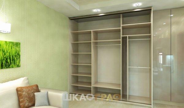 Комбинированный шкаф-купе в гостиную с зеркалом Graf № 91 2