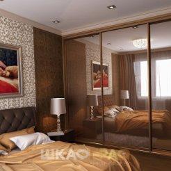 Шкаф-купе в спальню с зеркальными дверями Graf № 61 5