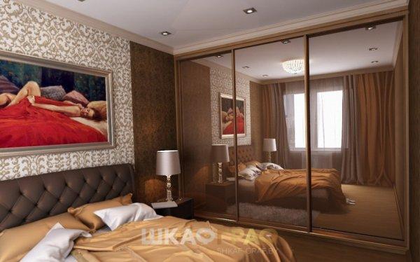Шкаф-купе в спальню с зеркальными дверями Graf № 61 3