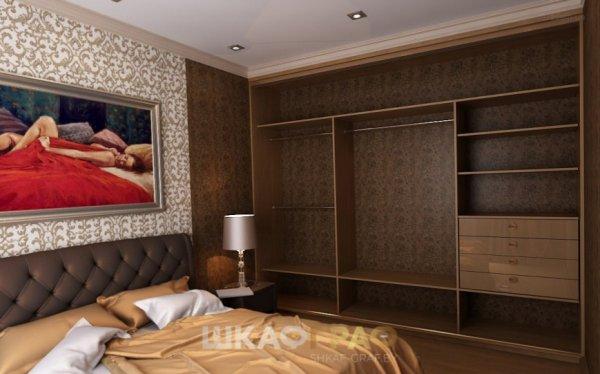 Шкаф-купе в спальню с зеркальными дверями Graf № 61 2