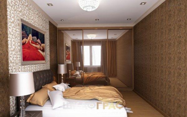 Шкаф-купе в спальню с зеркальными дверями Graf № 61 1
