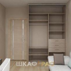 Шкаф-купе в гостиную с зеркальными дверями Graf № 63 5
