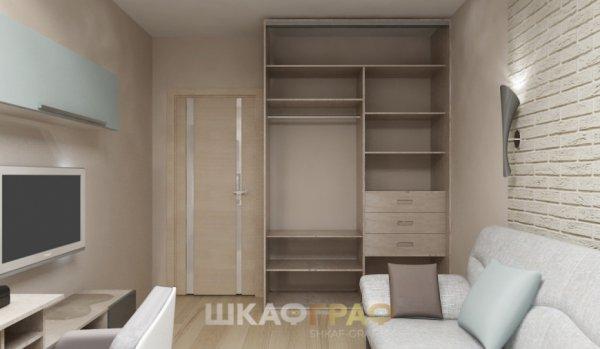 Шкаф-купе в гостиную с зеркальными дверями Graf № 63 3