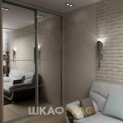 Шкаф-купе в гостиную с зеркальными дверями Graf № 63 4