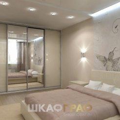 Шкаф-купе в спальню с комбинированными дверями Graf № 69 5