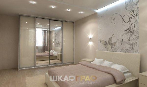 Шкаф-купе в спальню с комбинированными дверями Graf № 69 3