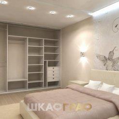 Шкаф-купе в спальню с комбинированными дверями Graf № 69 4