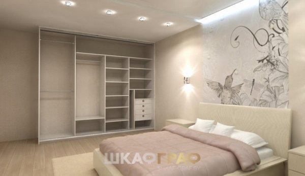 Шкаф-купе в спальню с комбинированными дверями Graf № 69 2