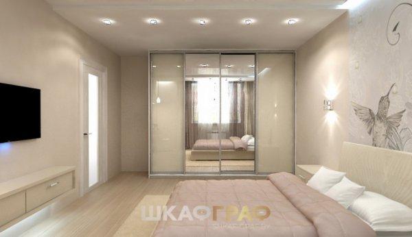 Шкаф-купе в спальню с комбинированными дверями Graf № 69 1
