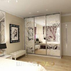 Шкаф-купе в спальню с пескоструйным рисунком Graf № 70 4