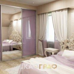 Шкаф-купе в спальню с лакобелем Graf № 71 4