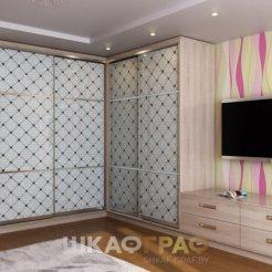 Угловой шкаф-купе в гостиную с фотопечатью Graf № 55 5