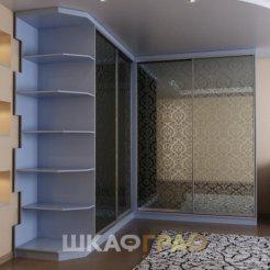 Угловой шкаф-купе в гостиную с фотопечатью Graf № 57 4