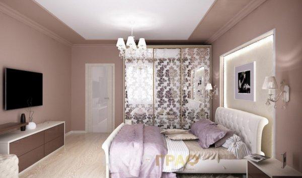Шкаф-купе в спальню с пескоструйными узорами Graf № 73 1