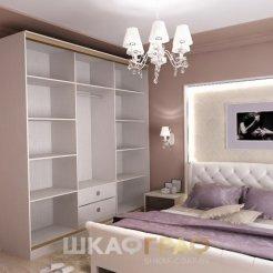 Шкаф-купе в спальню с пескоструйными узорами Graf № 73 5