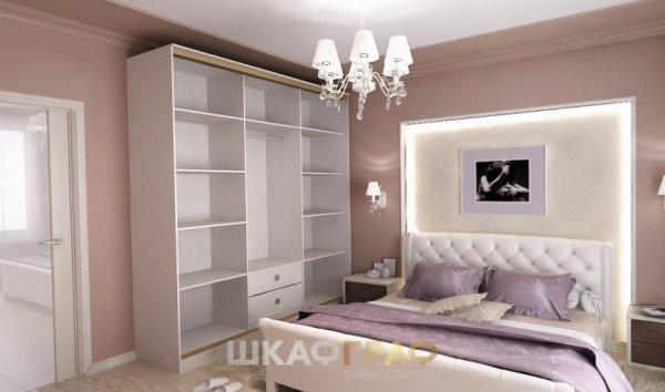 Шкаф-купе в спальню с пескоструйными узорами Graf № 73 3