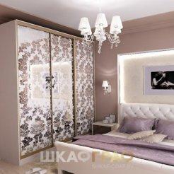 Шкаф-купе в спальню с пескоструйными узорами Graf № 73 4