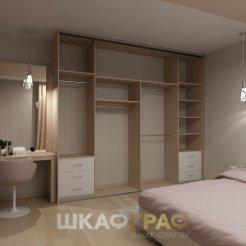 Шкаф-купе в спальню с пескоструйным рисунком Graf № 81 4