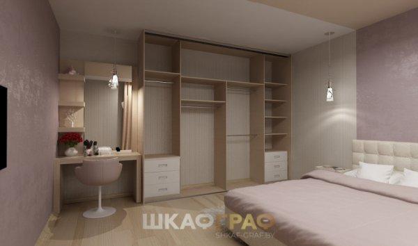 Шкаф-купе в спальню с пескоструйным рисунком Graf № 81 2
