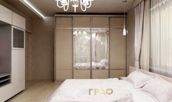 Шкаф-купе в спальню с комбинированными дверями Graf № 82 1