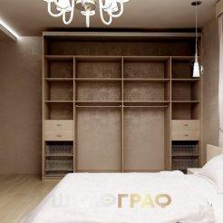 Шкаф-купе в спальню с комбинированными дверями Graf № 82 5
