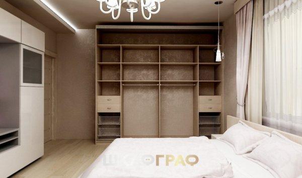 Шкаф-купе в спальню с комбинированными дверями Graf № 82 3
