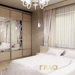 Шкаф-купе в спальню с комбинированными дверями Graf № 82 4