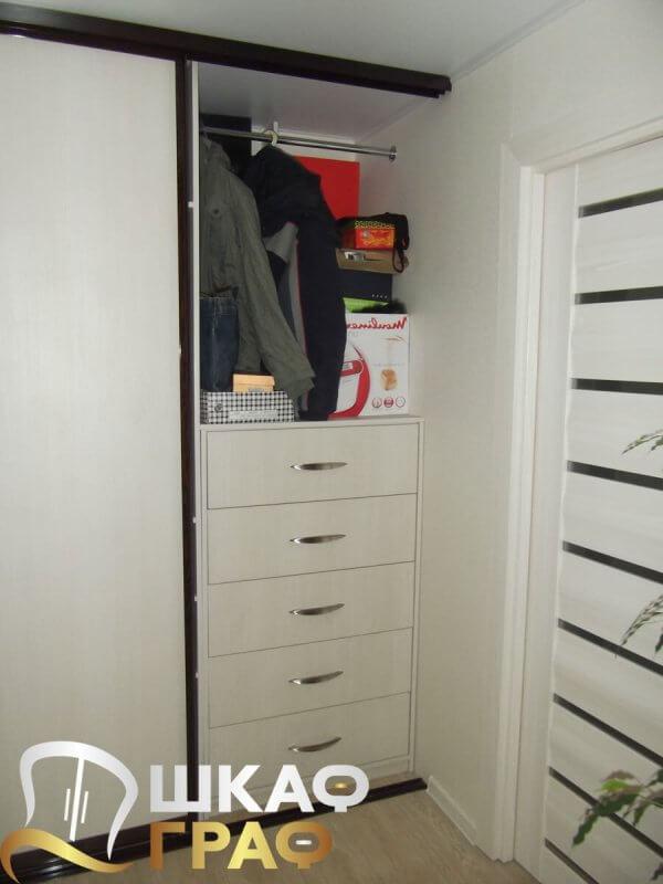 Внутреннее наполнение шкафа-купе для спальни