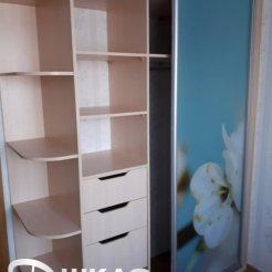 Шкаф-купе для спальни с фотопечатью весна