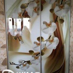 Шкаф-купе с цветочными мотивами