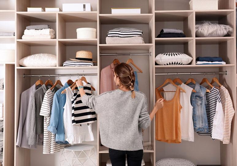 Внутреннее наполнение гардеробной