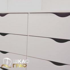 Гардеробная в стиле минимализма белая Graf № 72