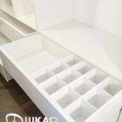 Гардеробная белоснежная с выдвижными ящиками Graf № 129